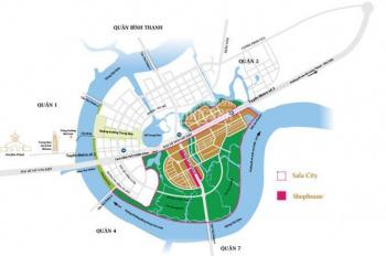 Chính chủ cần cho thuê nhiều căn shophouse Sala Đại Quang Minh quận 2 giá 55tr/th DT: 600m2- 6000m2