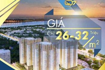 Bán căn hộ ven sông SG Quận 7 dự án Q7 sài Gòn Riverside CĐT Hưng Thịnh, giá 1.5 tỷ/2PN. 0909675849