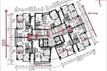 Cắt lỗ bán rẻ căn 3 ngủ full nội thất chỉ 3,2 tỷ tại tòa nhà Hòa Phát 257 Giải Phóng