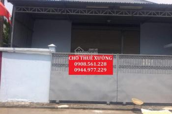 Cho thuê xưởng p.Thạnh Lộc + p.Thạnh Xuân, q.12. DT: 300m2 -12tr/th; 500m2 15tr/th LH: 0908.561.228