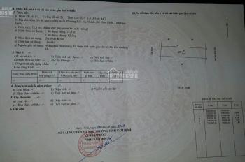 Bán đất hướng Đông khu đô thị thống nhất TP Nam Định. Diện tích 72 m2, giá 1,05 tỷ