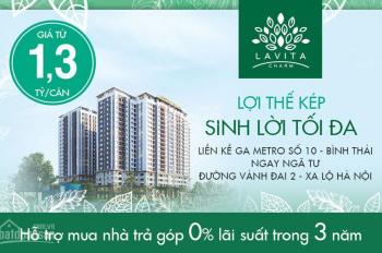 Bán chính chủ căn hộ C05 căn góc tầng 15 dự án Lavita Charm giá hợp đồng được CK 4%