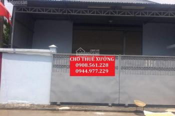Cho thuê nhà xưởng mặt đường Lê Văn Khương, quận 12, DT: 500m2 giá 30 triệu/tháng. LH: 0908 561 228