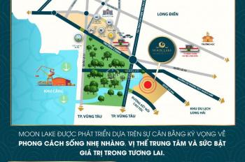 Đất nền Moon Lake mặt tiền đường 44A ngay cổng chào Long Hải, giá tốt nhất thị trường, 6.5tr/m2