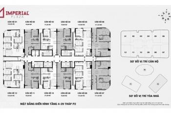 Chính chủ bán gấp chung cư Imperial 360 Giải Phóng tầng 1810 tháp IP2, giá 28 tr/m2. 0968088365