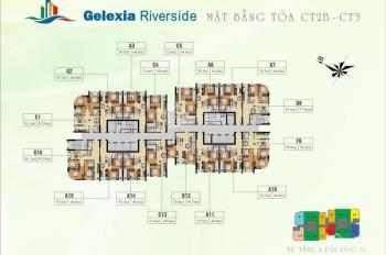 Chủ nhà bán gấp Gelexia 885 Tam Trinh, tầng 1510, toà CT2B, DT 66,8m2, giá 18tr/m2. 0968822071 MTG