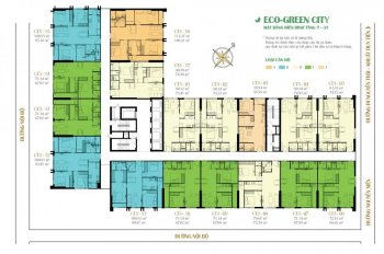 Chuyển công tác bán gấp chung cư Eco Green City, tầng 1505- CT3, DT 75m2, căn góc, giá 1.9tỷ, MTG