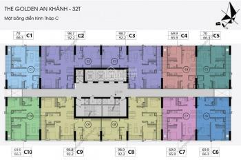 (0968822071) cần bán gấp tầng 1203, DT 92,2m2, CC Golden An Khánh, giá cắt lỗ sâu 1,7 tỷ, full NT