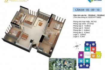 CC bán cắt lỗ Goldmark City 136 Hồ Tùng Mậu, tầng 1610-R1, DT 138m2, giá: 21tr/m2, LH 0901798296
