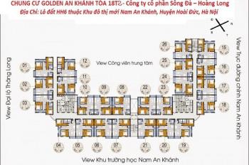 Bán cắt lỗ CC The Golden An Khánh, tầng 1512: 66,8m2- 18T1 và tầng 1218: 69m2, 920tr, LH 0968822071