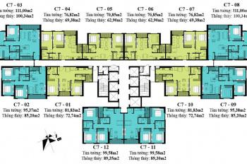 Bán cắt lỗ căn hộ C6, căn góc số 9, view hồ Đông Nam, giá 4,3 tỷ
