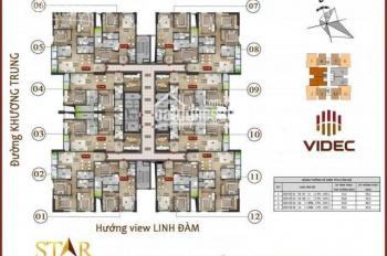 Star Tower 283 Khương Trung bán gấp căn hộ 69m2 full đồ, 87m2 cơ bản, 92m2 cơ bản, giá chỉ 2tỷ/căn