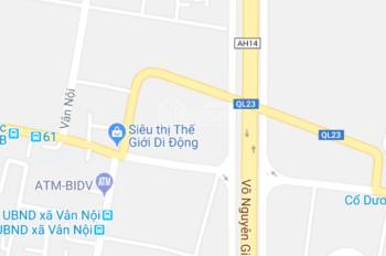 Cần Bán Đất Mặt Đường Xóm Bảo Xã Vân Nội. LH 0982349358