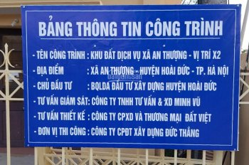 Cần bán 45m2 - 50m2 đất dịch vụ vị trí đẹp xã An Thượng, Hoài Đức, Hà Nội, giá 18 triệu/1m2