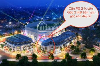 Bán căn PG 2-9 shophouse Vincom Thái Nguyên căn góc 2 mặt tiền, giá gốc chủ đầu tư. LH: 0904573669