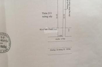 Cần bán gấp lô nhà đất mặt tiền đường 22/12, diện tích 4x32m, thổ cư, giá 4 tỷ 800 triệu