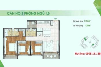 Chuyển nhượng căn hộ Sadora Apartment 3PN view trực diện hồ bơi, giá 7.9 tỷ gồm VAT. LH 0908111886