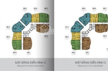 Bán căn hộ 306 chung cư N01 T8 Ngoại Giao Đoàn, 93.3m2, 2 phòng ngủ, view hồ điều hòa, 30 triệu/m2
