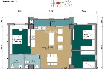 Chính chủ cho thuê căn hộ 3 phòng ngủ CT2A khu đô thị mới Nam Cường Cổ Nhuế