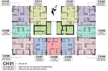 Bán rẻ 300tr CC A10 Nam Trung Yên, 1505: 60,5m2 và 1608: 100.9m2 giá 28tr/m2. LH O971.O85.383