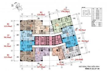 Chính chủ bán căn hộ Hà Đô Park View, 98.35m2, 2 phòng ngủ, SĐCC, giá 3,8 tỷ, LH 0936007568