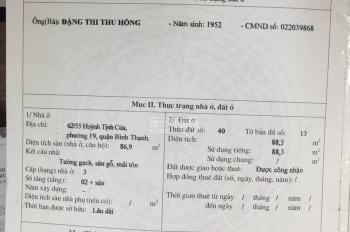 Cần tiền bán gấp căn nhà đường Huỳnh Tịnh Của, Bình Thạnh, Hồ Chí Minh