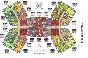 Chung cư Samsora Premier Hà Đông, vốn tự có chỉ 137 triệu đồng, chiết khấu 7%, lãi suất 0%