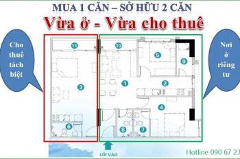 CH Soho 2 căn góc 3PN vừa ở, vừa cho thuê (riêng biệt), full nội thất cơ bản, 0906723456 (CĐT)