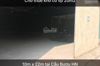 CC cho thuê kho 220m2, 314m2, 537m2 Cầu Bươu, Đường 70, Tân Triều, Thanh Trì Hà Nội 0988180363