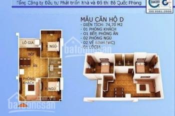 Cần bán gấp căn 2 phòng ngủ, 2 nhà vệ sinh toà CT1 Thạch Bàn, liên hệ: 0988588531