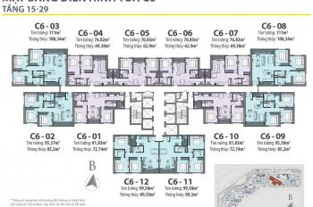 Tôi, chủ căn hộ Vinhomes D'capitale, 1510: 72.7m2, 1811: 89,3m2, tòa C6, bán giá rẻ (0981 917 883)
