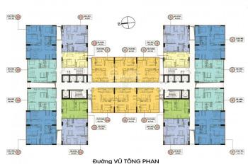 Bán gấp CHCC 349 Vũ Tông Phan, 1609 (125m2) và 1505 (84.6m2) giá 30 tr/m2, LH: 0359493456