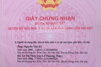 43m2 đất thổ cư gần trung tâm xã Vân Nội, huyện Đông Anh, TP Hà Nội