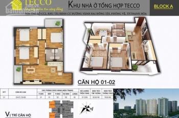 Bán căn hộ 2 - 3 phòng ngủ giá rẻ nhất tại chung cư Tecco, 0916753139