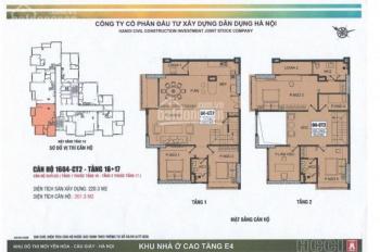 Bán căn hộ Penthouse, Duplex dự án E4 Vũ Phạm Hàm vip nhất dự án 201m2, 216m2, 289m2 08456.999.22