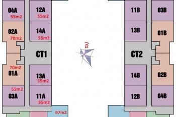 Chị Ngân bán gấp căn hộ tầng 1004 DT 55m2 chung cư 987 Tam Trinh, giá 18 tr/m2, LH 0904673568