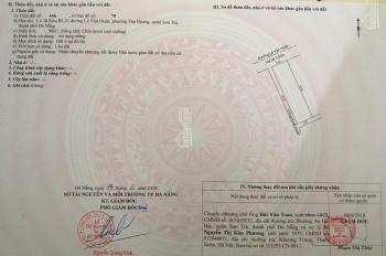 Cần bán lô đất kẹp cống đường Lê Văn Huân, đầu tuyến Sơn Trà, DT 90m2, hướng Tây Bắc, giá 5,6 tỷ