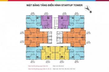 Cần bán cắt lỗ CC Startup Tower - 91 Đại Mỗ, căn 02, DT: 90,7m2, giá 17,5tr/m2. LH: 0902121222