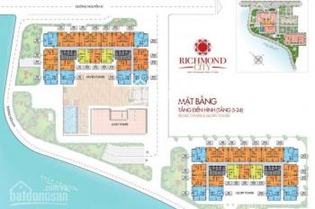 Bán gấp căn hộ Richmond City 2PN, 3PN, giá đầu tư, Đã thanh toán 75% ck 3% 2,8ty/can LH: 0983705745