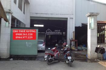 Cho thuê nhà xưởng nằm cầu vượt Quang Trung - Q12, DT: 1000m2, giá 30 triệu/tháng lh: 0908.561.228