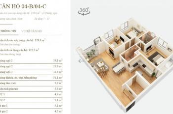 Chính chủ căn 04C chung cư Mandarin Tân Mai 128.6m2, giá 3.75 tỷ