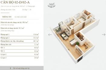 Chính chủ bán căn 98.8m2, dự án Mandarin Tân Mai, giá 2.7 tỷ