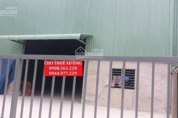 Cho thuê nhà xưởng trong cụm công nghiệp, Hiệp Thành, Q12, DT 700m2, 22triệu/th. LH 0908.561.228