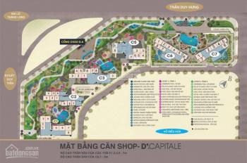 Cần bán shophouse Vinhomes D'capital Trần Duy Hưng, C5 mặt đường TDH giá 16,5 tỷ 93m2 LH 0838906666