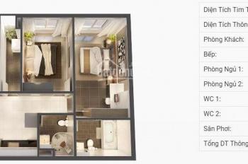 Chính chủ bán căn hộ Dragon 2A, 78m2, 2PN, 2WC view Đông Nam, thanh toán chỉ 688 tr LH: 0973848214
