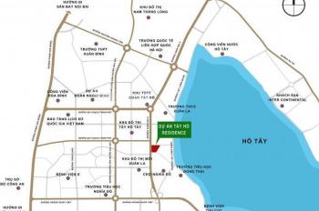 Mở bán CC Tây Hồ Residence - 68A Võ Chí Công, giá từ 2,8 tỷ/2PN view hồ tuyệt đẹp. LH 0967.856.693