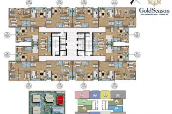 Tôi cần bán cắt lỗ CC GoldSeason (Spring) - T1001: 66m2 và T1511: 95m2, giá 28 tr/m2. 0968822071