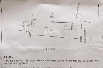 Nhà bán mặt tiền đường Thái Phiên, p2, Q11, ngang 2,5m dài 15m, nở hậu 2,8m, trệt 1 lầu, giá 2,7tỷ