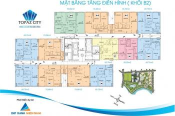 Bán căn hộ Topaz ở liền B2, 70m2, view thoáng mát, giá 1.950 tỷ, 2PN, LH: 0904682139