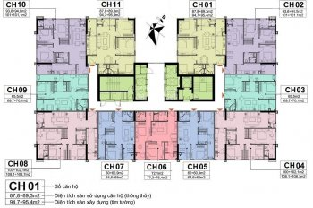 Bán gấp CC A10 Nam Trung Yên, CT2, 1602: 94,8m2 và 1203: 65.5m2, giá 29tr/m2. LH 0971.085.383